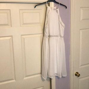 White racerback dress
